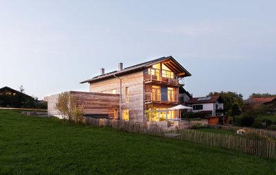 Neubau: Öko-Haus mit Split-Leveln am Chiemsee