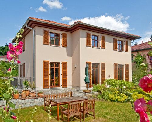Fassadenfarbe mediterran  Mediterrane Häuser Ideen, Design & Bilder | Houzz