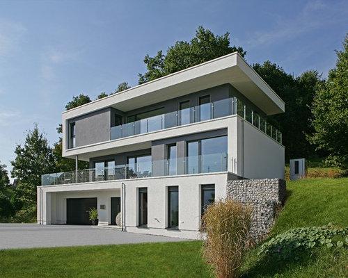 Moderne Häuser Bilder graue moderne häuser ideen design bilder houzz