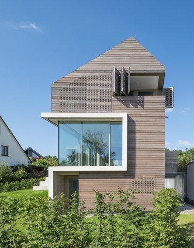 Contemporáneo Fachada by Architekturbüro msm Schneck