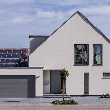 Satteldach-Haus Giebelansicht