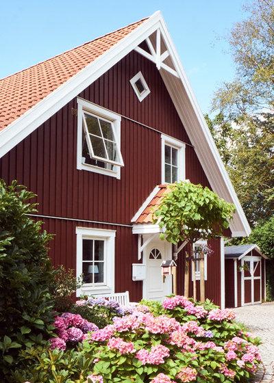 Skandinavische Holzhäuser houzzbesuch ein süßes rotes schwedenhaus bei bremen