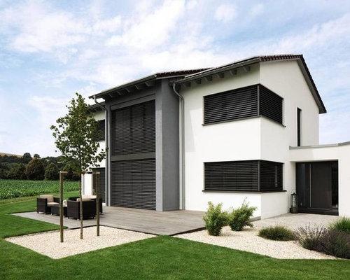 modernes haus mit betonfassade ideen design bilder. Black Bedroom Furniture Sets. Home Design Ideas