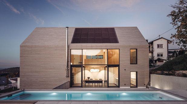 Модернизм Фасад дома by HI ARCHITEKTUR