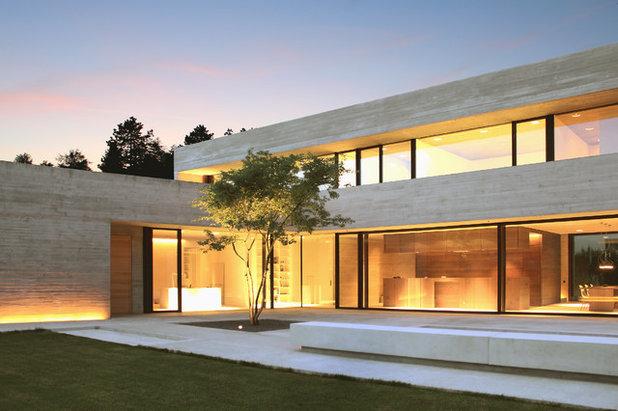 Minimalistisch Häuser by NIEBERG ARCHITECT atelieraxelnieberg
