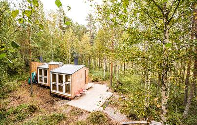 Houzz Финляндия: Деревянный мини-дом своими руками