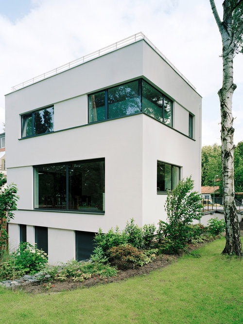 wei e h user und fassaden mit putzfassade ideen f r die haus fassadengestaltung houzz. Black Bedroom Furniture Sets. Home Design Ideas