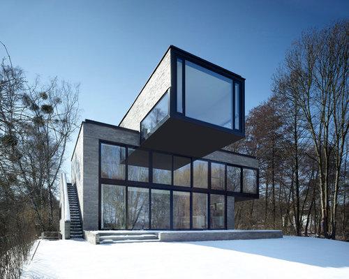 h user mit glasfassade ideen f r die fassadengestaltung houzz. Black Bedroom Furniture Sets. Home Design Ideas