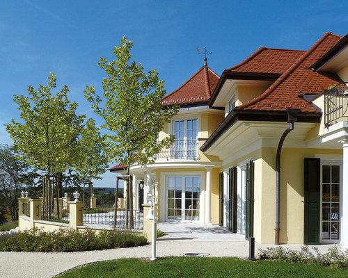 gelbe klassische h user und fassaden ideen f r die haus fassadengestaltung houzz. Black Bedroom Furniture Sets. Home Design Ideas