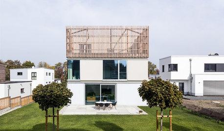Haus in Pirna: Kleiner Fußabdruck, großer Wohnraum mit Elbeblick