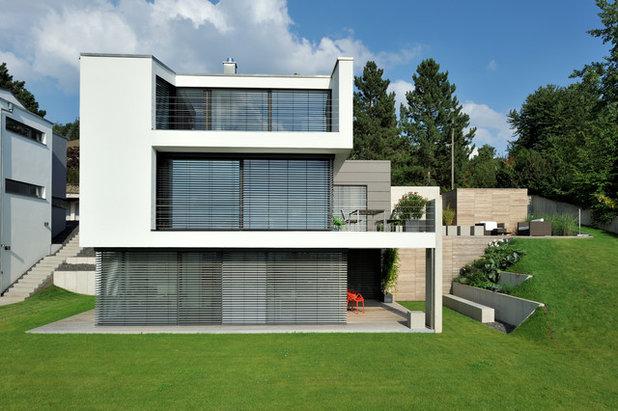 Modern Häuser by Architekturbüro msm Schneck