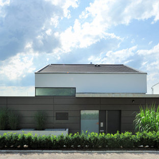 75 Most Popular Huge Mixed Siding Exterior Home Design Ideas For