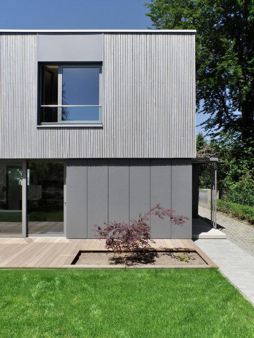 graue h user mit holzfassade ideen f r die fassadengestaltung houzz. Black Bedroom Furniture Sets. Home Design Ideas