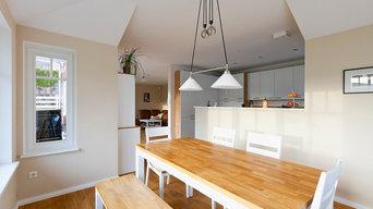 Wohnküche auf Skandinavisch