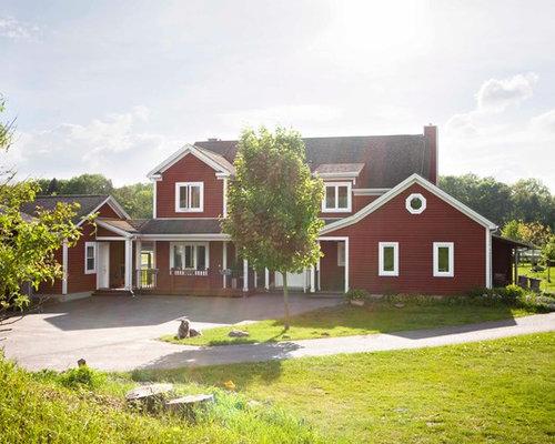 landhausstil haus und fassade deutschland ideen f r die. Black Bedroom Furniture Sets. Home Design Ideas