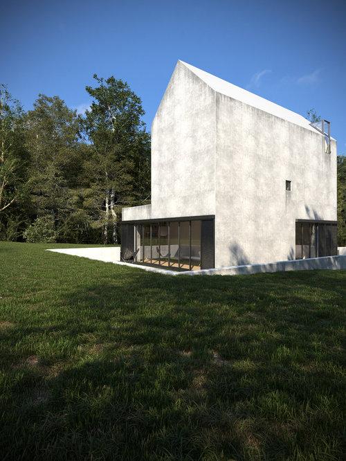 Moderne häuser und fassaden mit betonfassade ideen für die haus
