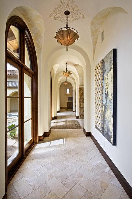 Mediterranean Hall by Bravo Interior Design