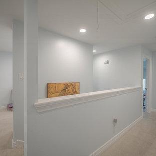 Hallway - shabby-chic style hallway idea in Houston