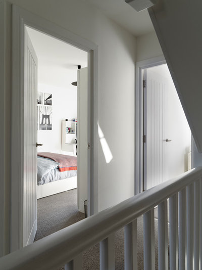 Contemporary Hallway & Landing by fiftypointeight Architecture + Interiors