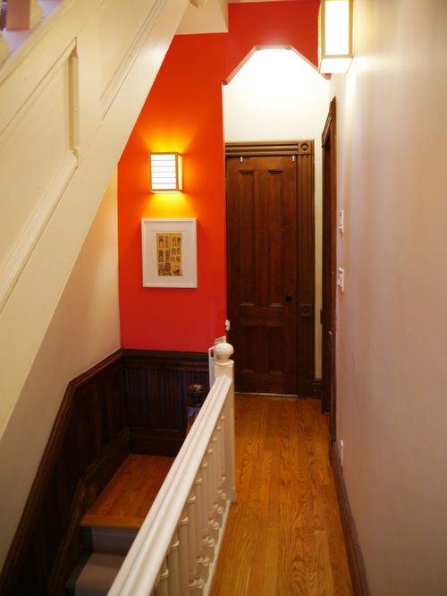 best small hallway with red walls design ideas remodel. Black Bedroom Furniture Sets. Home Design Ideas