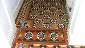 Alderley Edge Restoration of a Late Victorian Encaustic & Geometric Tiled Floor.