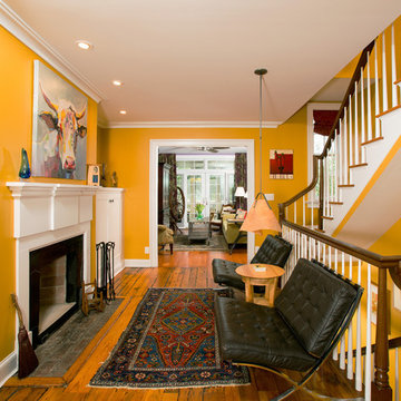 Alexandria: Revamped Row Home with Relocated Stairwell, New Porches