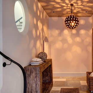 Inspiration for a beach style hallway in Other.