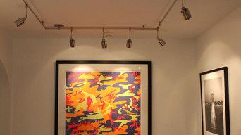 Art Gallery Lights installation