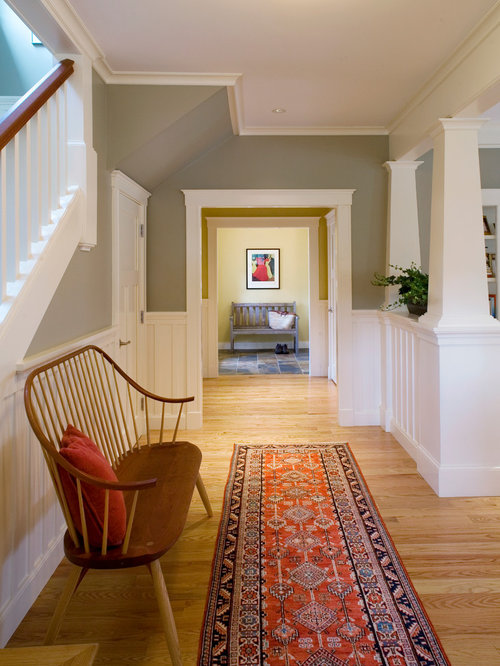 Hallway wainscoting ideas pictures remodel and decor for Arts and crafts wainscoting