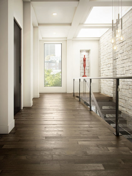 Contemporary Hall by Higgins Wood Floors Inc