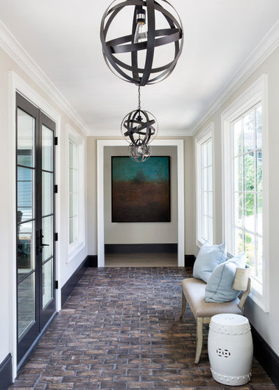 Transitional Hall by Jane Goetz Interior Design, LLC