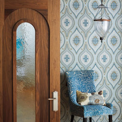 Authentic Designs - Tudor Doors - TruStile Tudor Door Collection - AD1110 in Walnut with Square Stick (SS) sticking, Flat (C) panel and Silver Crystal mirror