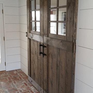 Barn Door Office Entry
