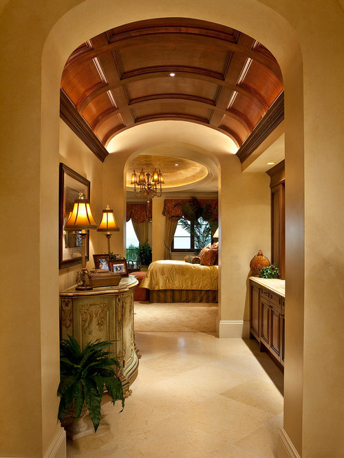 Mediterranean hallway design ideas pictures remodel decor for Barrel ceiling ideas