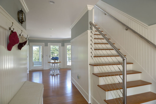 Beach Style Entry by Laplante Construction Inc.