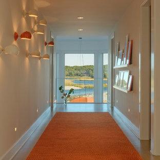 Coastal hallway photo in New York with white walls