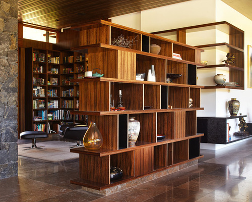 SaveEmail - Bookcase Divider Foyer Houzz