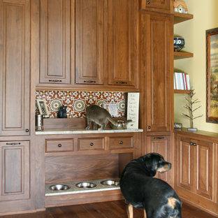 Example of a classic dark wood floor hallway design in Atlanta with beige walls