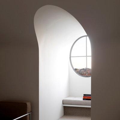 Transitional Hallway & Landing by Decus Interiors