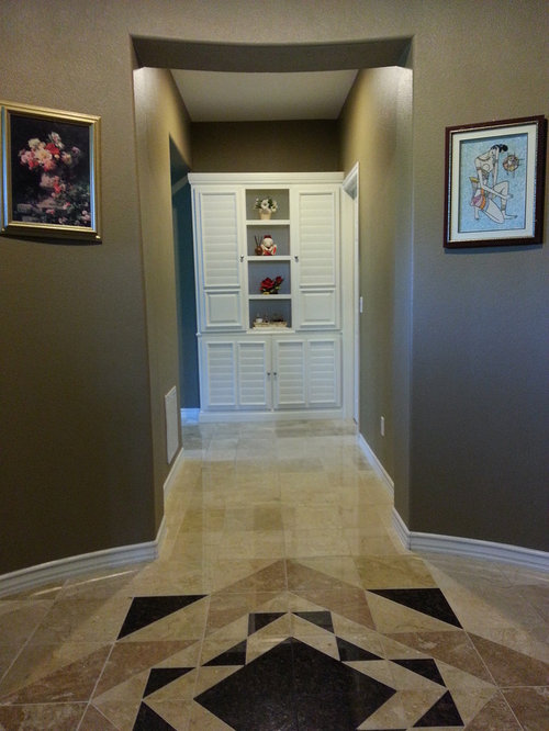 Tropical Orange County Hallway Design Ideas, Pictures, Remodel & Decor