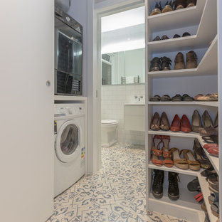 Bespoke shoe storage and utility cupboard in hallway