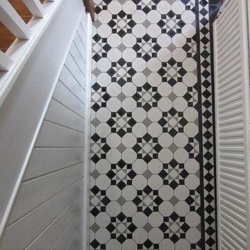 Black, White & Pale Grey Victorian Hallway