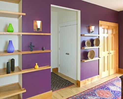photos et id es d co de couloirs avec un mur violet. Black Bedroom Furniture Sets. Home Design Ideas
