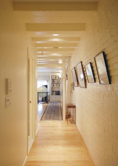 Transitional Hallway & Landing by Leslie Saul & Associates