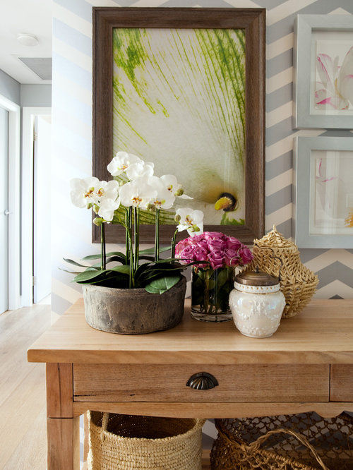 Inspiration For A Mid Sized Eclectic Light Wood Floor Hallway Remodel In  Sydney With Multicolored