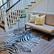 Contemporary Hall by Jill Wolff Interior Design