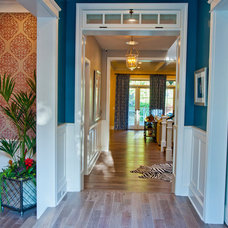 Traditional Hall by Jill Wolff Interior Design