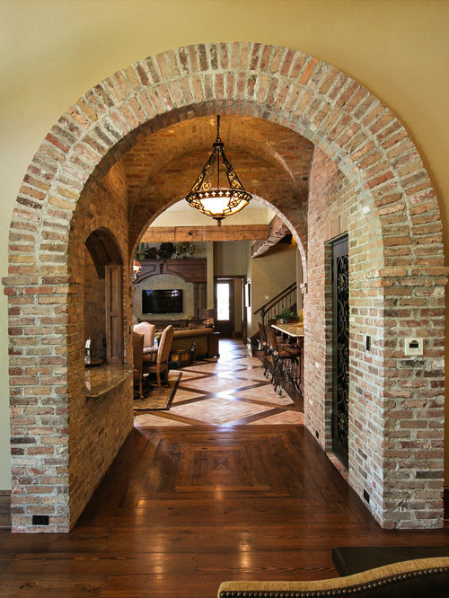 Brick arch home design ideas pictures remodel and decor Home arch design