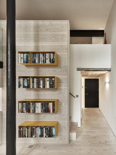 Contemporary Corridor by Scott Donald Architecture
