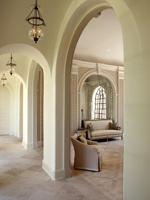 Elegant travertine floor hallway photo in Atlanta & Limestone Flooring   Houzz azcodes.com